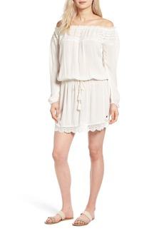 Roxy Lace Trim Off the Shoulder Dress