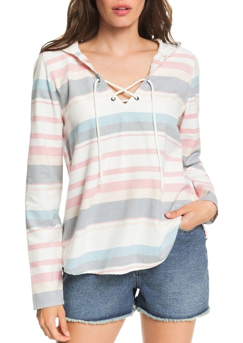 Roxy Lace-Up Hooded Top