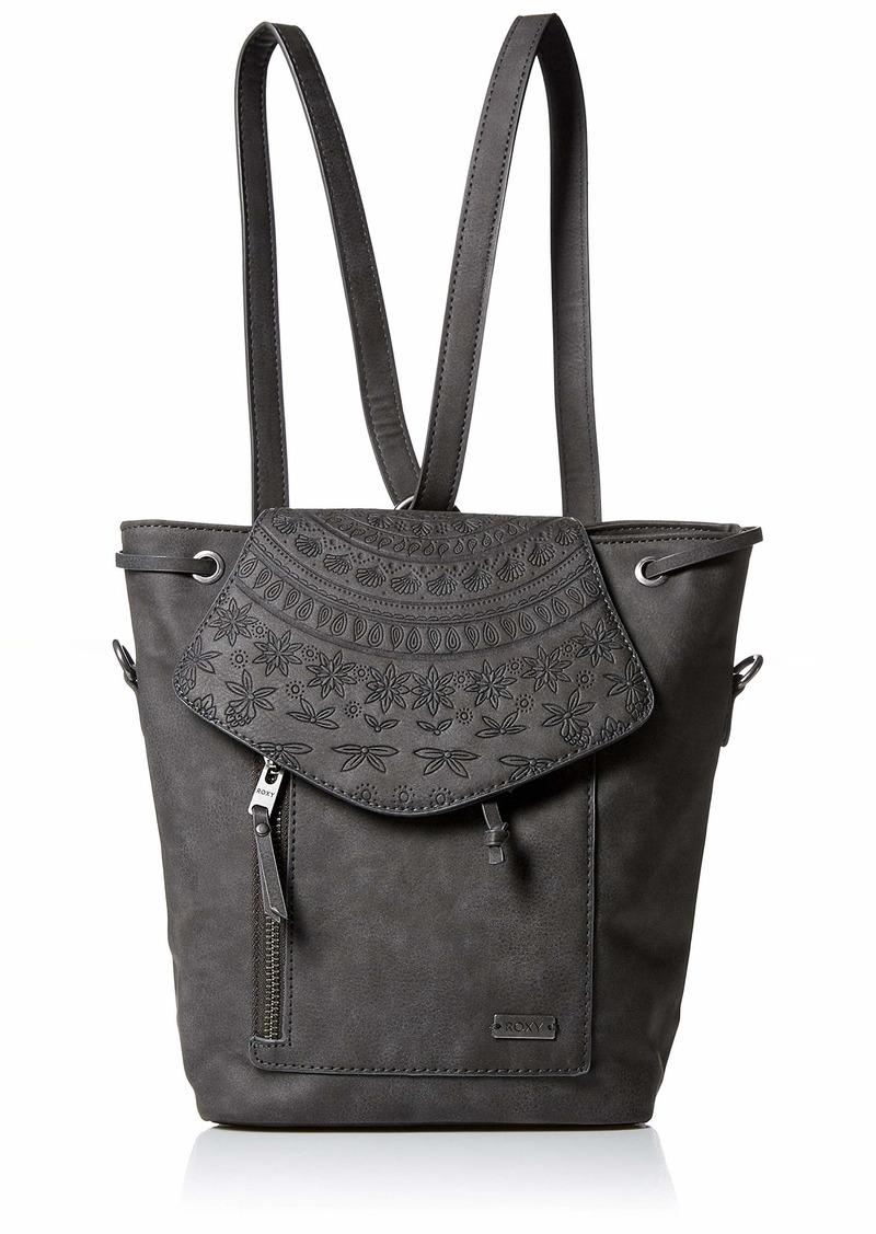 Roxy Like A River Mini Backpack and Convertible Crossbody Bag true black