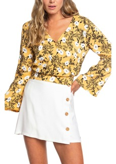 Roxy Like Gold Floral Blouse