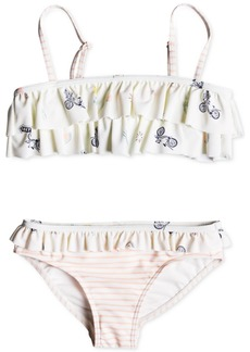 Roxy Little Girls 2-Pc. Ruffle-Trim Bikini