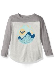 Roxy Little Girls' 3/ Sleeve Football T-Shirt