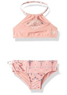 Roxy Little Girls' Boho Crop Top Swimsuit Set