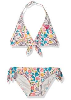 Roxy Little Girls' Caravane Beauty Halter Swimsuit Set