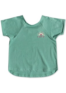 Roxy Little Girls Crochet-Strap Cotton Top