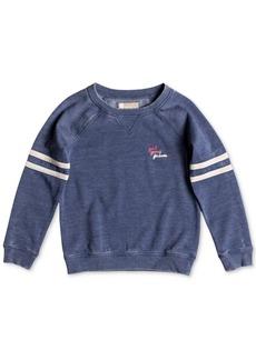 Roxy Little Girls Football-Stripe Sweatshirt