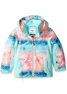 Roxy Little Girls' Mini Jetty Snow Jacket Neon Grapefruit_Solargradient