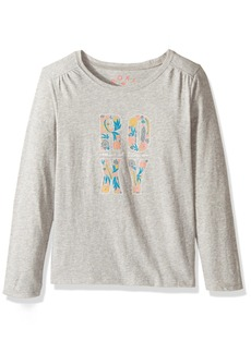 Roxy Little Girls' Never Ages Flower Power Typo Long Sleeve Tee
