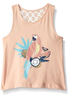 Roxy Little Girls' Peaceful Light Tank Top Tropical Peach