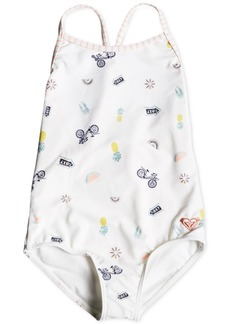 Roxy Little Girls Printed One-Piece Swimsuit