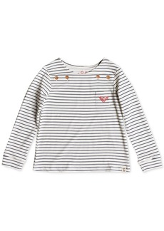 Roxy Little Girls Striped Long-Sleeve Cotton T-Shirt