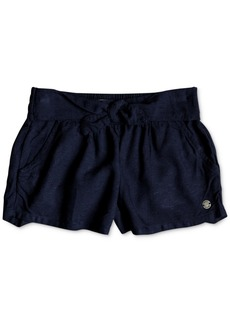 Roxy Little Girls Tie-Belt Shorts