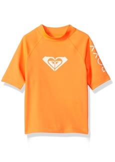 Roxy Little Girls' Whole Hearted Short Sleeve Rashguard