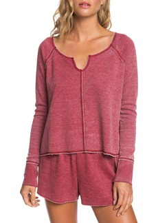 Roxy Look Lively 2 Long Sleeve Cotton Blend Thermal Top