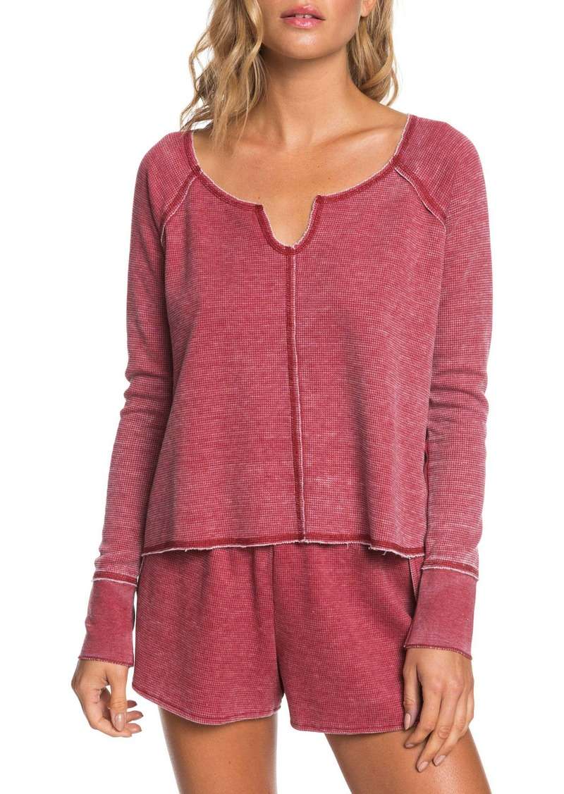 Roxy Juniors Look Lively Thermal Shirt