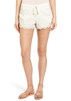Roxy Love Lace Trim Shorts