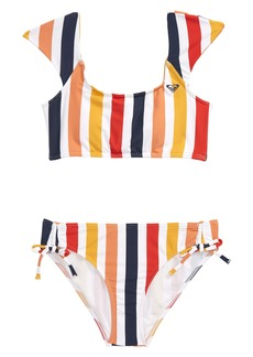 Roxy Lovin Stripe Two-Piece Swimsuit (Big Girls)