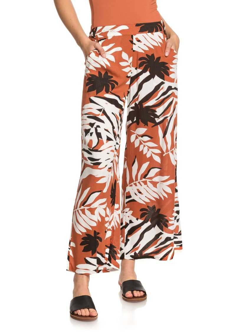 Roxy Midnight Avenue Dobby Floral Print Pants