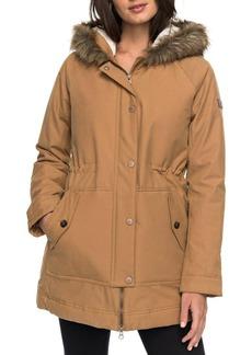 Roxy Mountain Song Faux Fur Trim Waterproof Hooded Parka