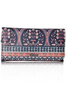 Roxy My Long Eyes Printed Tri-Fold Wallet Wallet CHINA BLUE NEW MAIDEN SWIM One Size