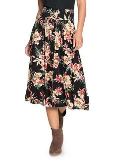Roxy Never Been Better Floral Print Skirt