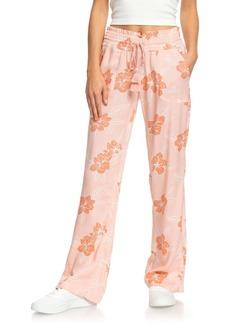 Roxy Oceanside Floral Print Straight Leg Pants
