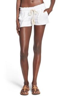 Roxy 'Oceanside' Linen Blend Shorts