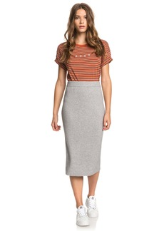 Roxy On My Cloud Rib Midi Sweater Skirt