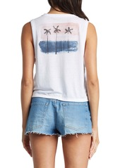 Roxy Palm Trees Painting Graphic Tank