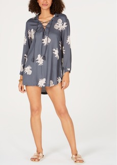 Roxy Printed Lace-Up Cover-Up Women's Swimsuit