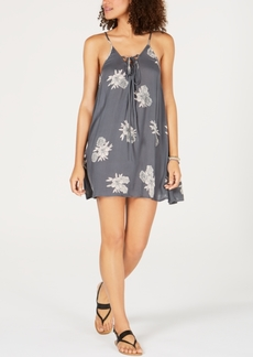 Roxy Printed Lace-Up Dress Cover-Up Women's Swimsuit