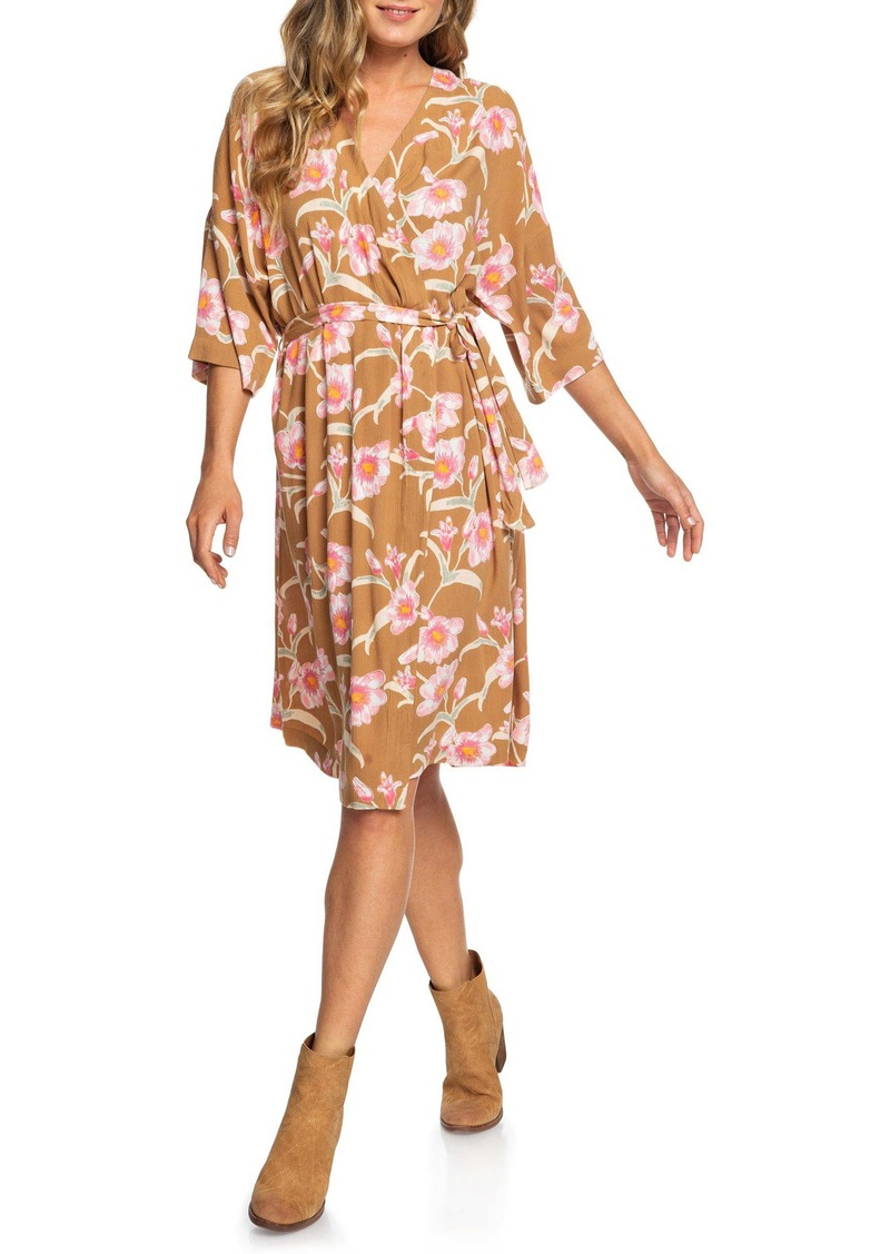 Roxy Privy Places Floral Wrap Dress