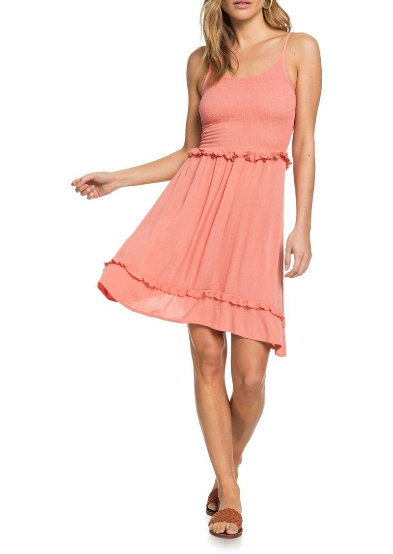Roxy Run Ahead Smocked Minidress