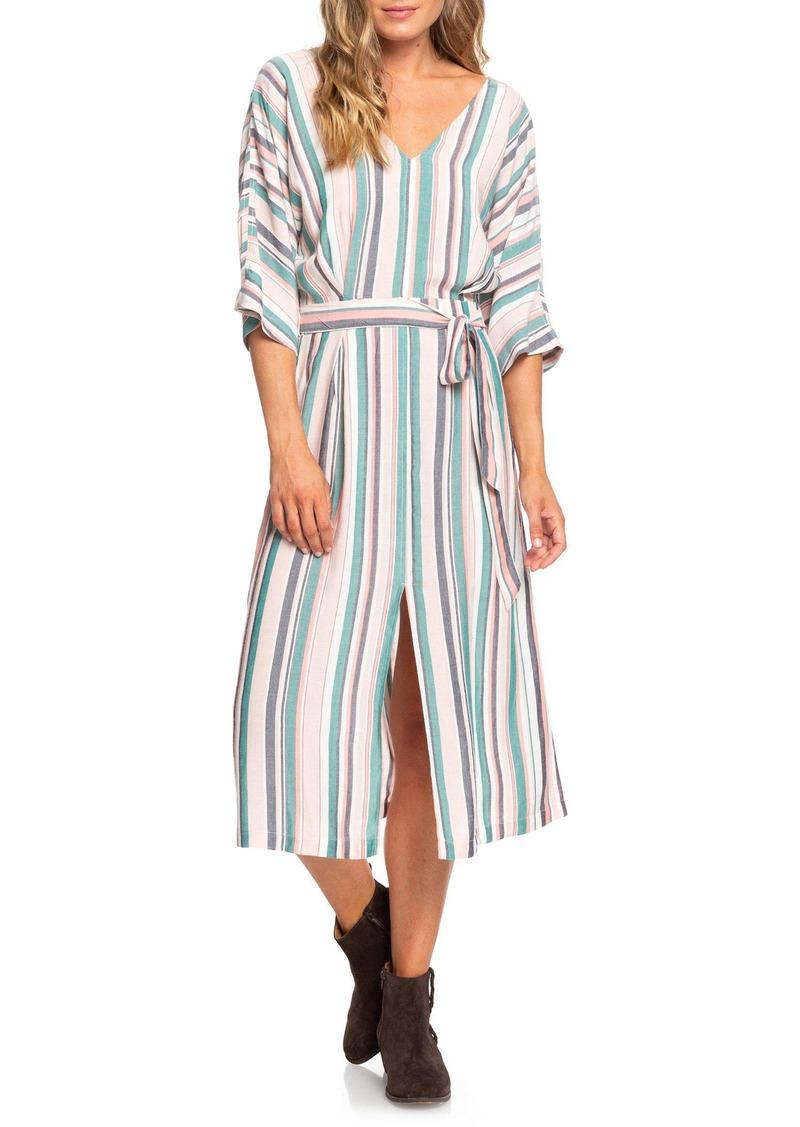 Roxy Run the Road Stripe Midi Dress