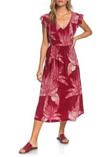 Roxy Rush Minute Ruffle Midi Dress