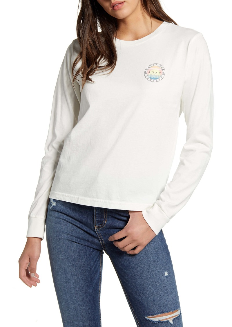 Roxy Salty Sea Society Long Sleeve Graphic Tee