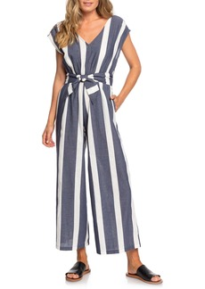 Roxy Same Old Blues Stripe Jumpsuit