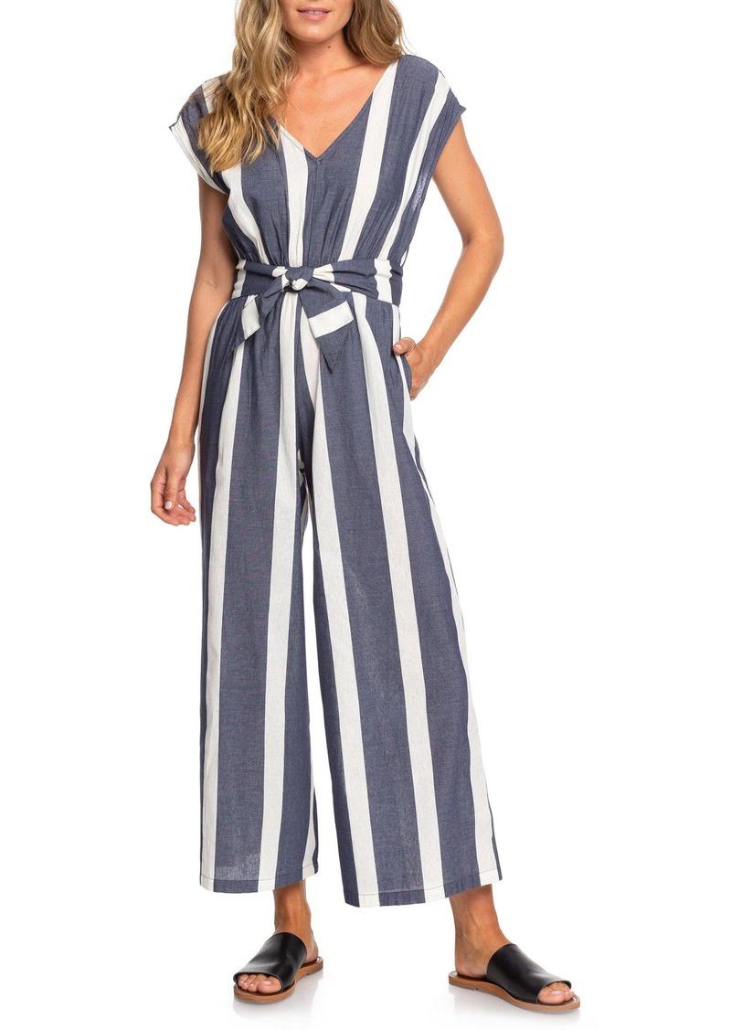 Roxy Same Old Blues Stripe Jumpsuit