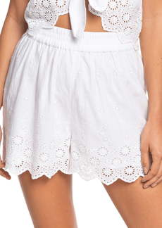 Roxy Seaside City Cotton Eyelet Shorts