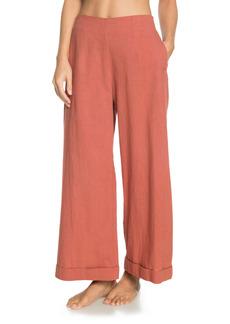 Roxy Señorita Smile Flare Cotton & Linen Pants