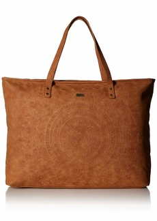 Roxy Set It On Fire Large Tote Bag camel