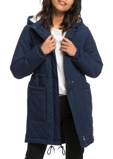 Roxy Slalom Chic Faux Shearling Trim Waterproof Parka
