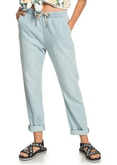 Roxy Slow Swell Beachy Beach Nonstretch Relaxed Fit Drawstring Waist Jeans