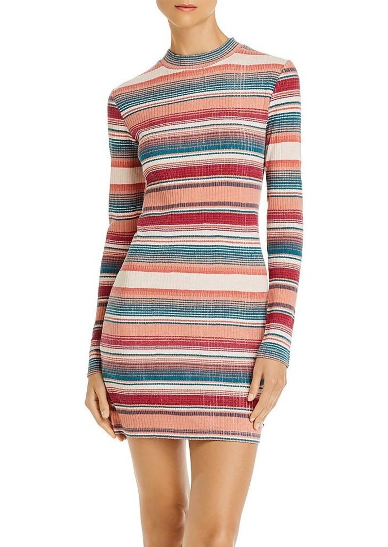 Roxy Smooth Dreamer Striped Rib-Knit Dress