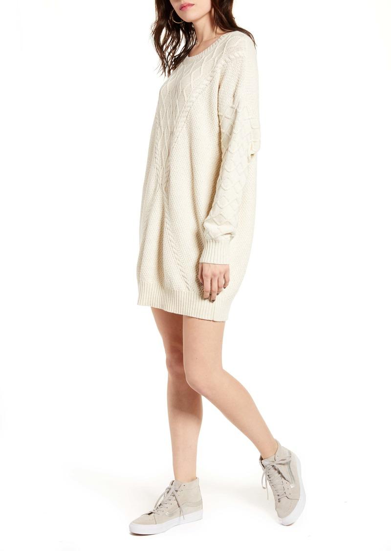 Roxy Snow Day Long Sleeve Sweater Dress