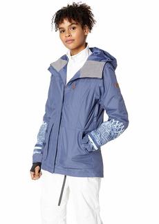Roxy Snow Junior's Andie Snow Jacket Crown Blue_Wild Ethnic L