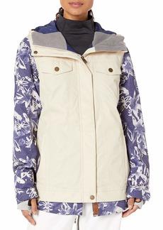 Roxy Snow Junior's Ceder Jacket mid Denim Bleached Flowers S