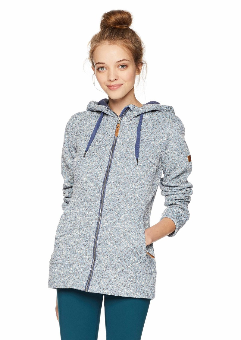 Roxy Snow Junior's Doe Zip-Up Hooded Sweatshirt  M