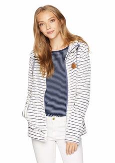 Roxy Snow Junior's Eskimo Zip-Up Fleece Jacket EGRET_Teddy Stripes S