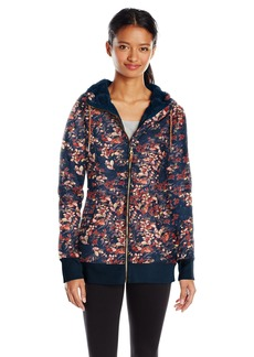 Roxy Snow Junior's Frost Printed Fleece Jacket Peacoat_Waterleaf L